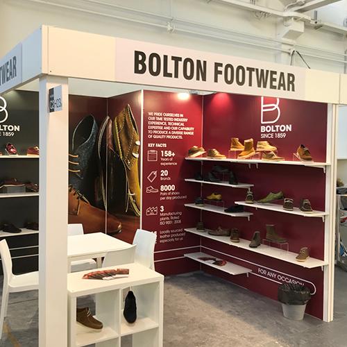 Bolton Footwear exhibits at ERS, Riva Del Garda, Italy