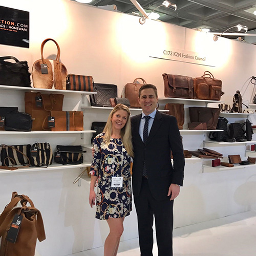 Joanne of FSP Collection and Chris of Jensen Belts